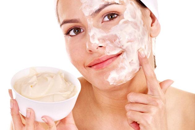 facial mask on woman