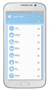 Predesigned lists of chores and tasks that users can import into their households
