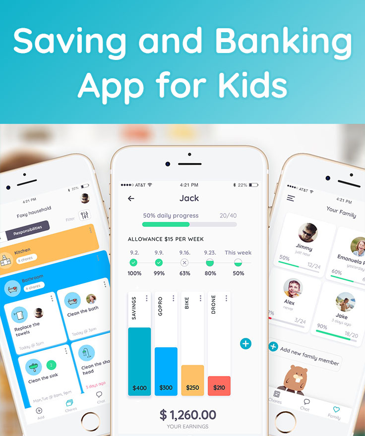 Saving and Banking App for Kids - Homey App for Families